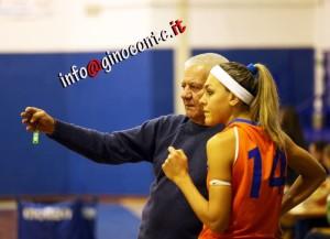 Coach Maiorani e l'atleta Daniela Fornaro assente contro Scafati