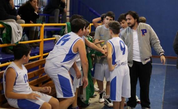 Coach Angelo Niero con la sua squadra