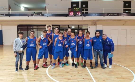 La squadra Under 16 che ha espugnato il Pala Maggiò