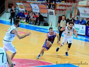 Stefano Orefice, autore di 16 all'andata contro il Basket Nola