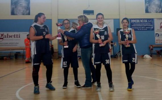 Le ragazze della Pallacanestro Pozzuoli premiate a Calvizzano