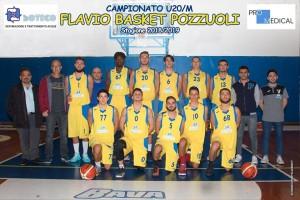 La formazione dell'under 20 del Flavio Basket Pozzuoli
